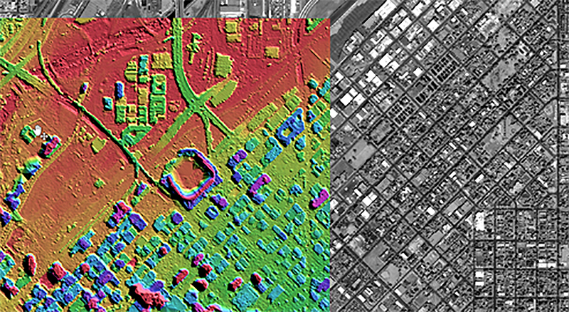 GIS spatial analysis and modeling of a city area