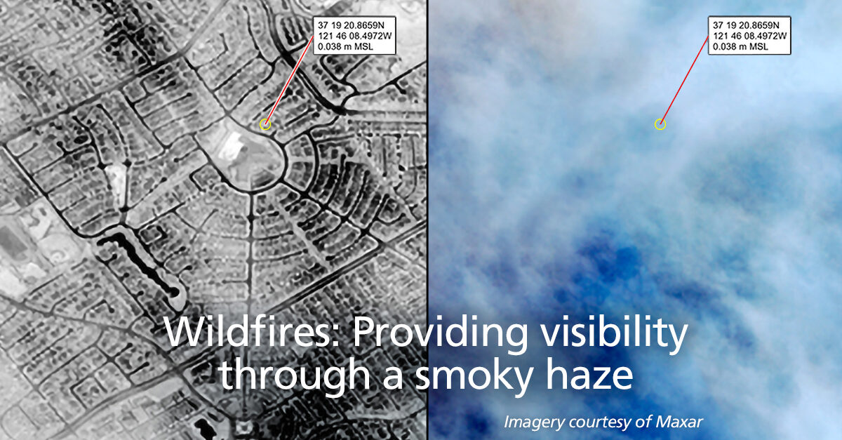 GXP MSI sees through the thick clouds and smoke generated by wildfires